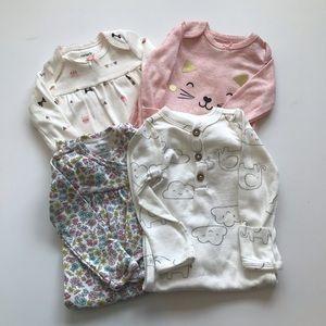 Girls Sleep Gowns Newborn. Qty 4